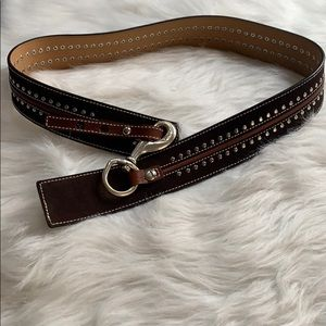Michael Kors women's large leather belt NEW